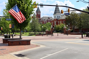 Flags flying in downtown Auburn
